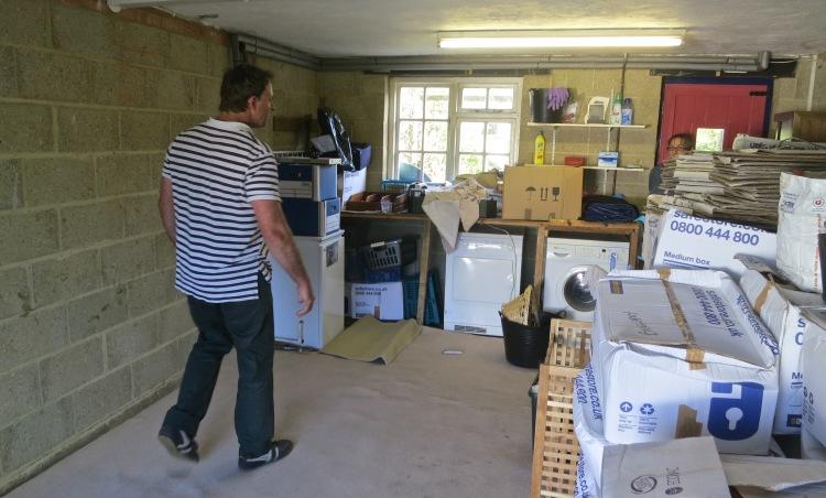 Matthew in garage library