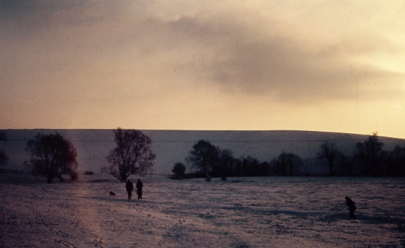 Snow on Wiltshire Downs