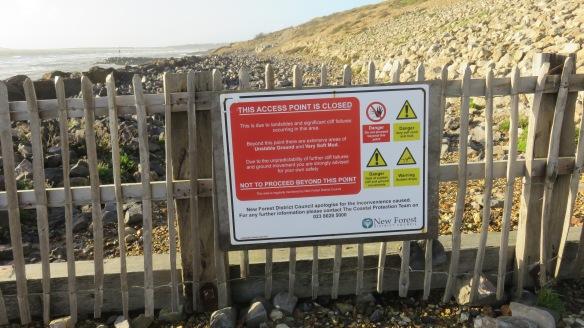 Beach access closed