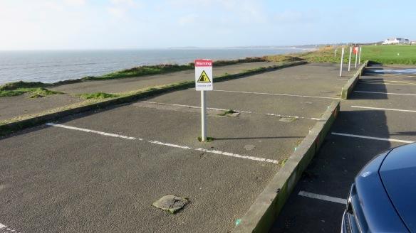 Car park/unstable cliff