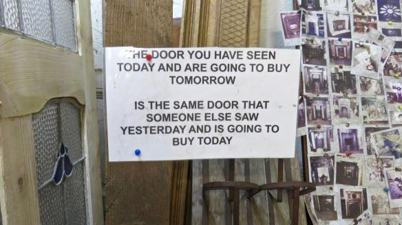 Don't put it off sign