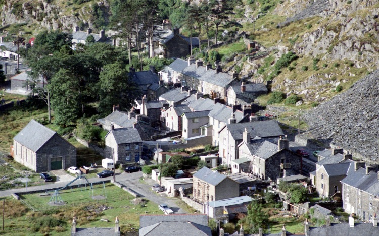 Houses in valley