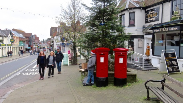 Post Boxes and Santa's little helper