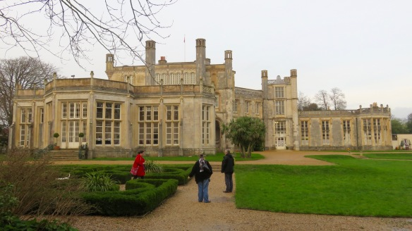 Becky, Ian, Jackie and Scooby at Highcliffe Castle