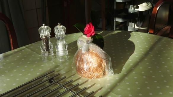 Bread and camellia
