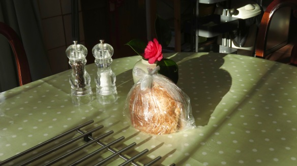 Bread and camellia