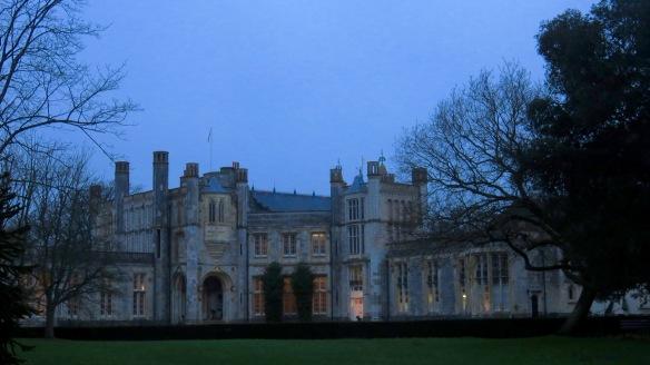 Highcliffe Castle at dusk