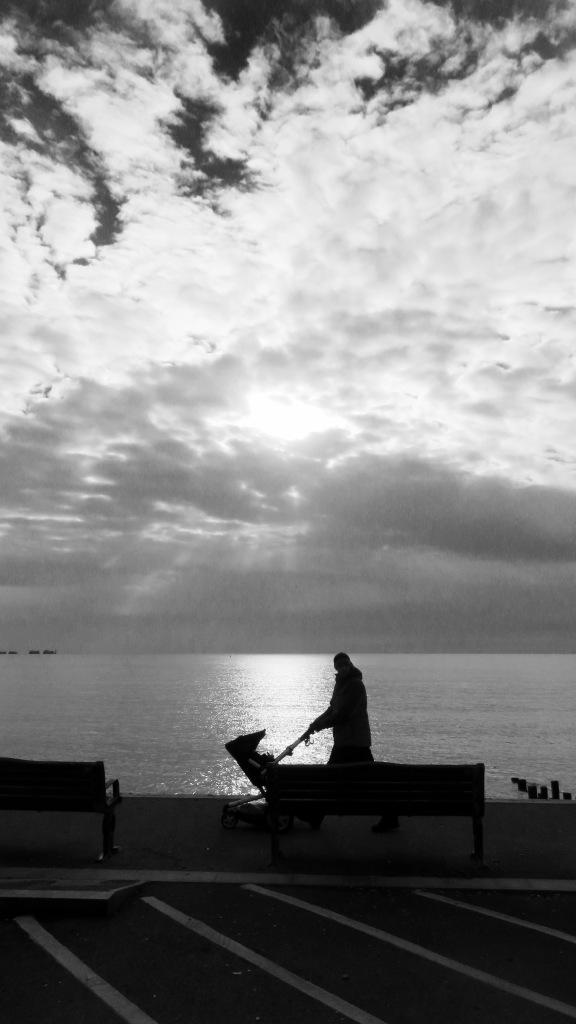 Pushcahair walker in silhouette