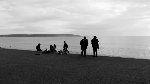 Jackie, Becky and others on clifftop