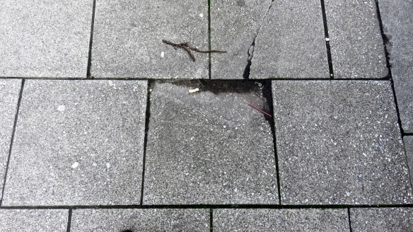 Paving cracked