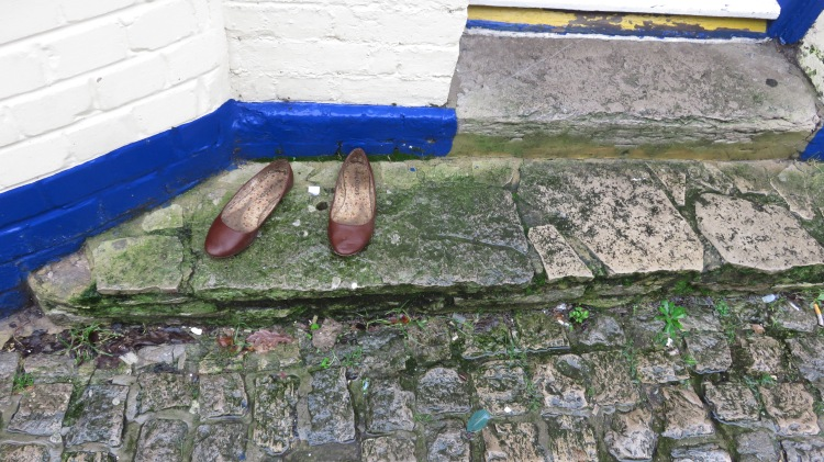 Shoes in doorway
