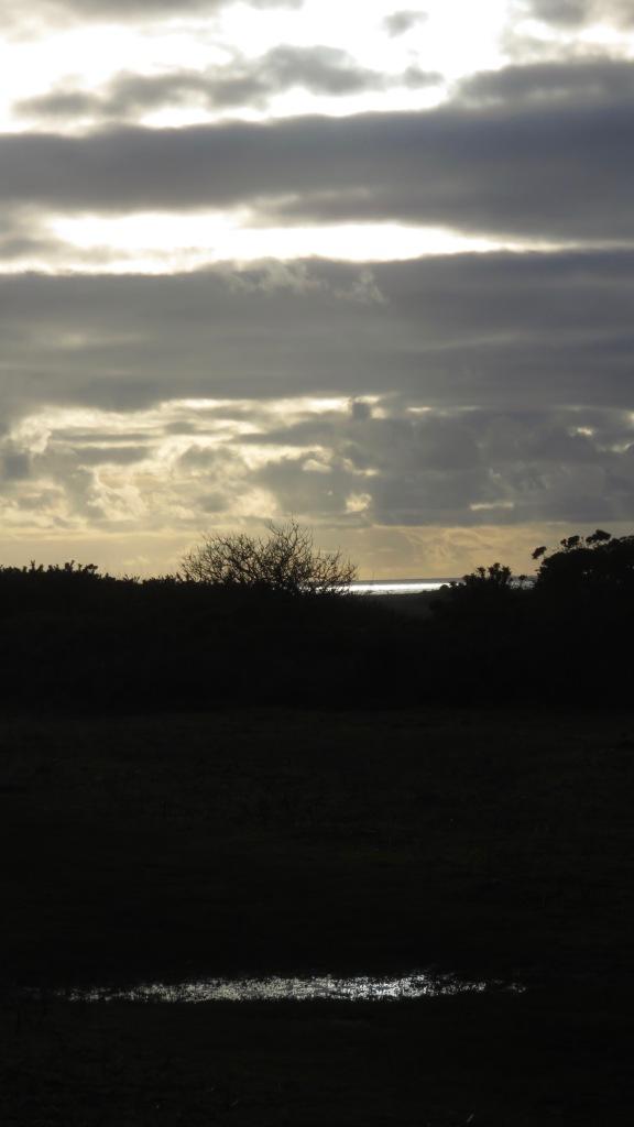 Clouds, sea, puddle