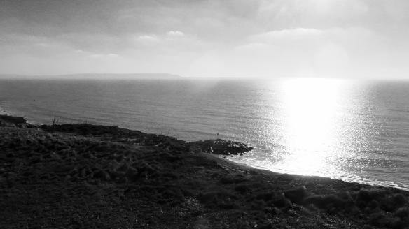 Sun on sea