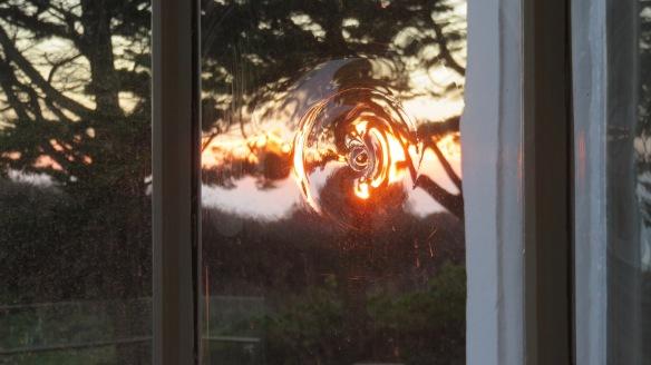 Sunset through back room window