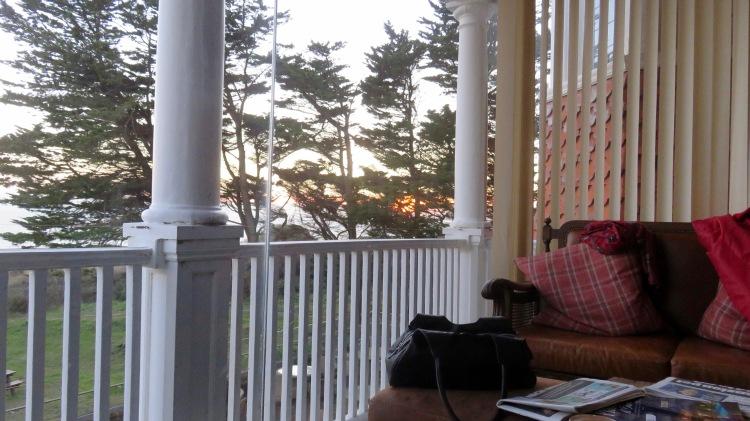 Sunset through Sun room window