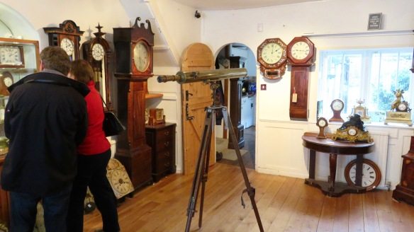 Telescope, clocks, and visitors