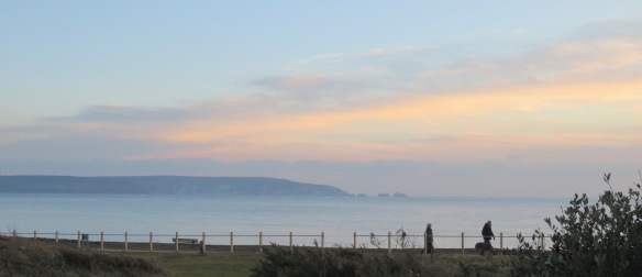 Isle of Wight, Needles, walkers