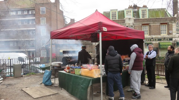 Barbecue stall