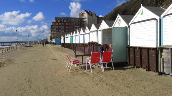 Opening beach hut 2