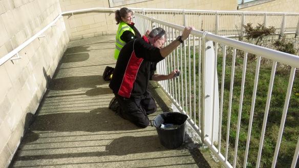 Cleaning railings