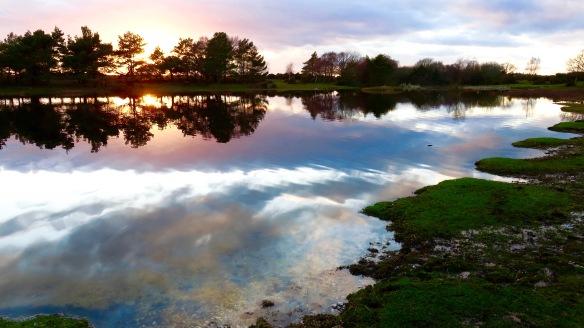 Hatchet Pond sunset 4