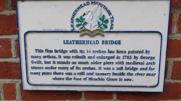 Leatherhead Bridge sign