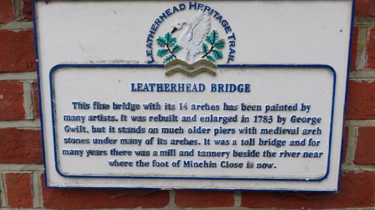 Leatherhead Bridge sign