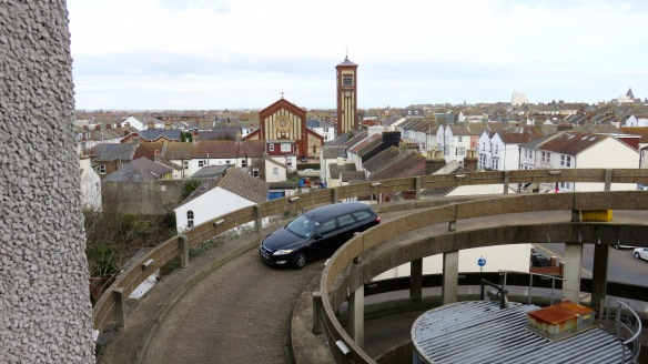 Rooftops and car park