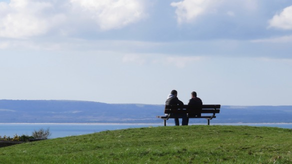 Two men on a bench