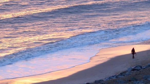 Walker, sunset on sea 1