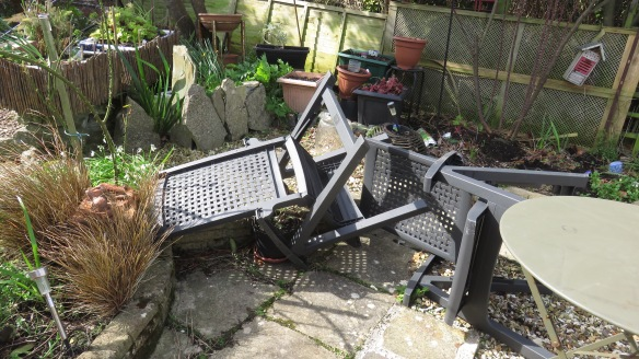 Chairs blown down