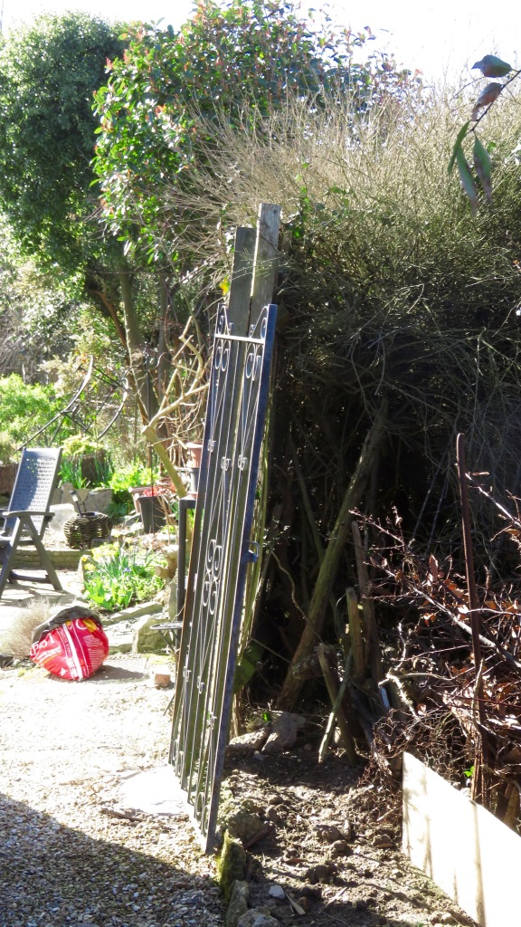 Gate dislodged