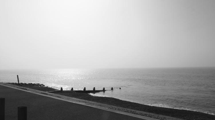Hazy sea
