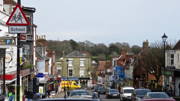 Lymington High Street and Burrard Monument