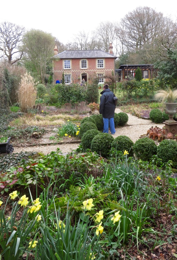 Jackie in Pilley Cottage Garden