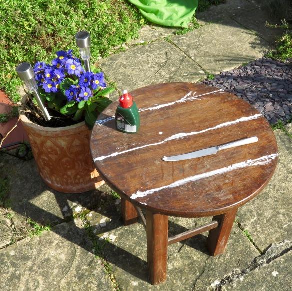 Table under renovation