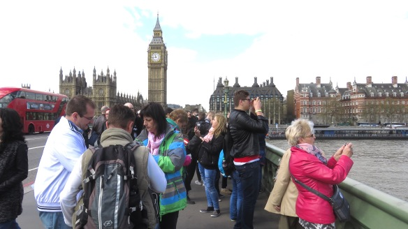 Crowd on Westminster Bridge 1