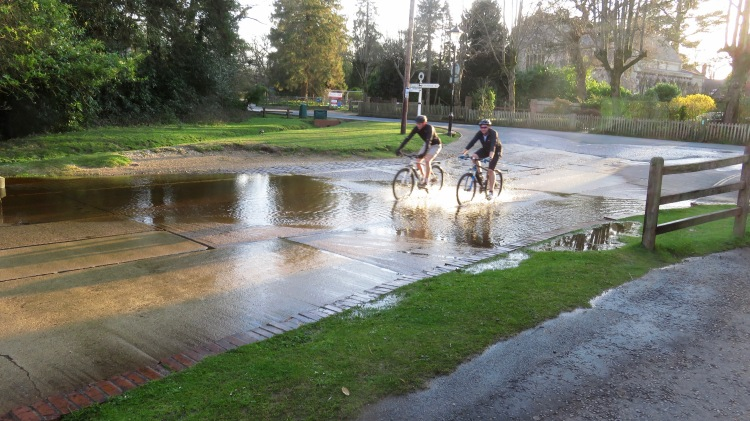 Cyclists at ford 2