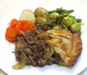 Steak pie meal 2