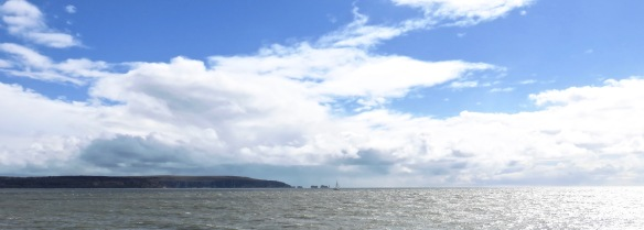 Yacht passing The Needles