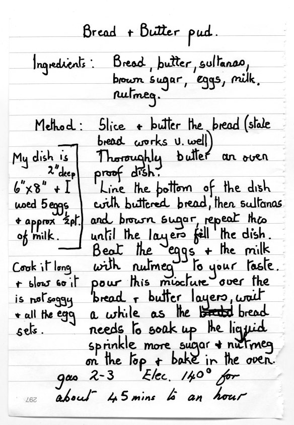 Bread & Butter Pud recipe