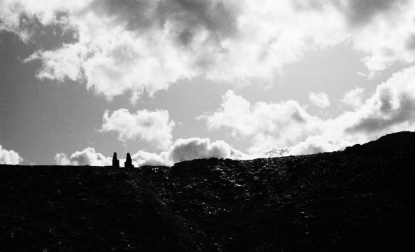 Clouds over disused slate mine 2