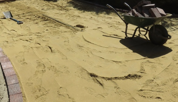 Paving and sand