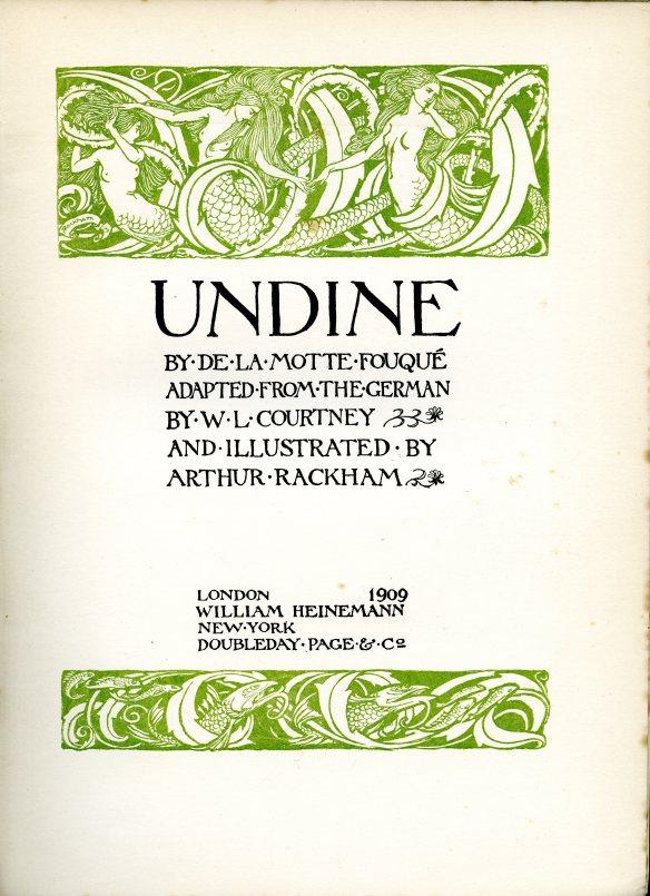 Undine title page