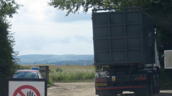 Isle of Wight from Efford Recycling Centre