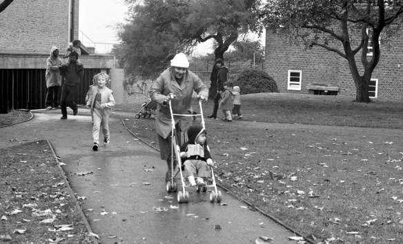 Pushchair in the lead