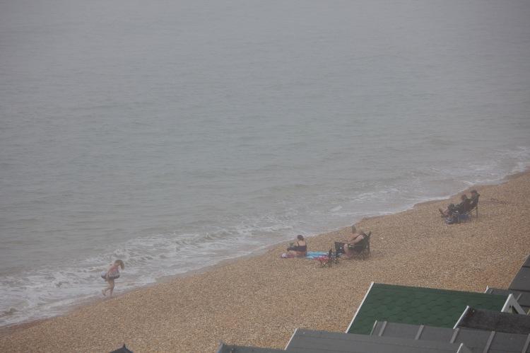Beach scene in mist 1