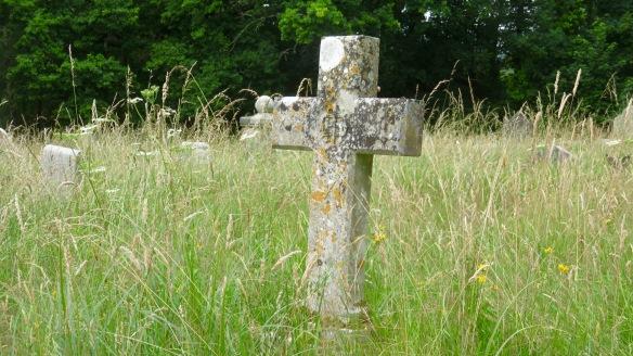 Cross in meadow