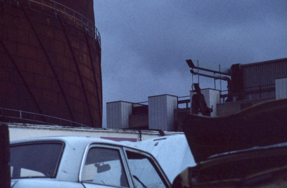 Gasometer and car wrecks 6.81 1