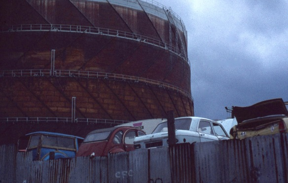 Gasometer and car wrecks 6.81 2